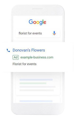 AdWords search ad